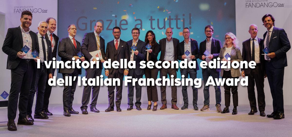 I vincitori della seconda edizione dell'Italian Franchising Award